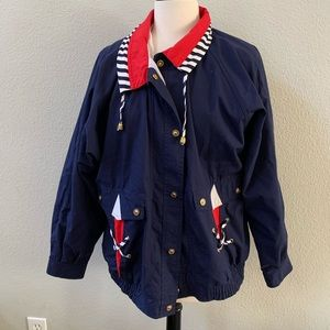 CURRENT SEEN 90s vintage blue nautical windbreaker